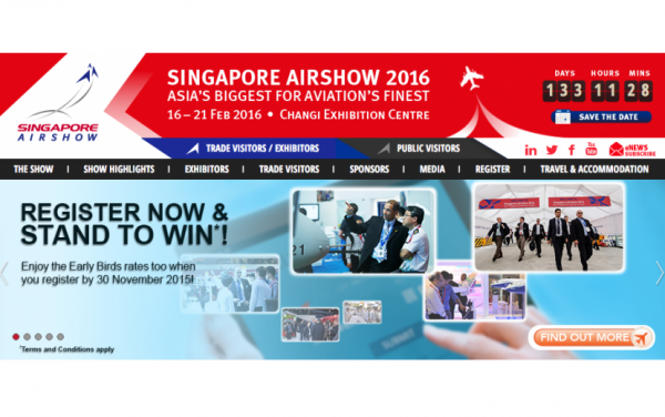 [申し込み締め切りを延長]「Singapore Air Show 2016」ジャパン・パビリオン