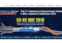 国際展示会 「第4回インドネシア国際ケーブル・ワイヤー業界展示会2018年」の出展申込み受付開始