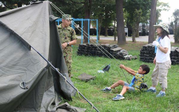 8月27、28日「親と子のアウトドアキャンプ」参加者募集 陸上自衛隊・朝霞駐屯地(東京・練馬)