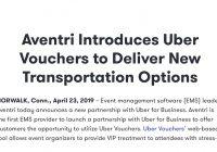 米国のイベントシステムAventri社とウーバーが提携