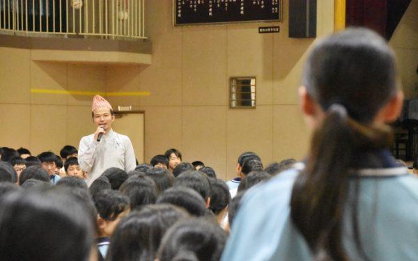 ネパールYouMe School創設者シャラド・ライさんに聴く「なぜ、学ぶか」の原点 〜「縁と自分事の大切さ」に気づく 中原中学校国際交流イベント〜