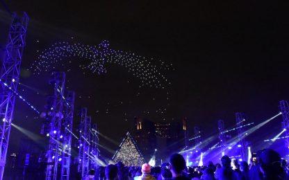 500機ドローン舞う 体験型ナイトショー「東京モーターショー」で